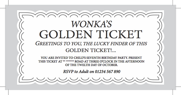 willy wonka ticket template 100 images willy wonka golden – Free Ticket Maker Template